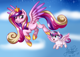 Princess Candence and Flurry Heart by Jack-Pie
