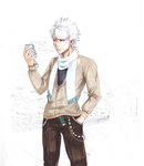 WIP Hitsugaya in the park by 8Kaylin8