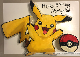 Pikachu Pokemon Cake by Yolandaaaaa