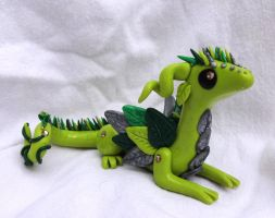 Green Forest Dragon by ByToothAndClaw