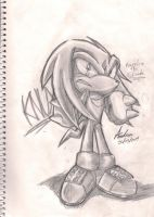 knuckles the echidna by andreahedgehog