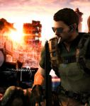 Fighting for better future! (Chris Redfield) by kingofshadows26