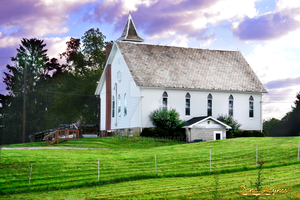Country Side Little White Church by DanaHaynes