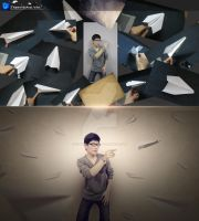 Paper plane - Before and After by Hoangvanvan