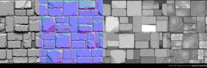 Stone Wall Tileable texture pack by MasterDhalsim