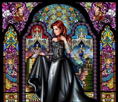 stained glass maiden by Artist-in-Despair