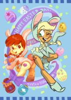 2016-Apple Sisters Easter day! by B-TOBIO