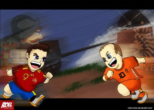 Spain vs Netherlands by roelworks