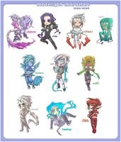 2004-2009 Characters by MoonLightSpectre