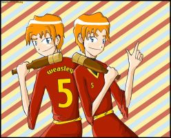 Fred and George - the beaters by gryffindor-girl