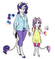 Infected!AU: Rarity and Sweetie Belle by Earthsong9405