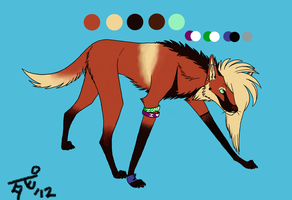 Design Contest - Maned Wolf by DegreesOfDeath