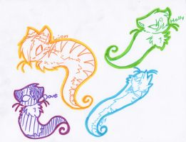 Spirit Cats! =3 by Snowstorm102
