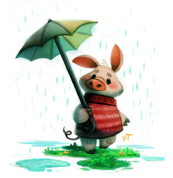 Day 570. Sketch Dailies Challenge - Piglet by Cryptid-Creations