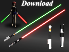 [MMD] Lightsabers [download] by Wampa842