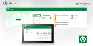Metro app: uTorrent for Windows 8 by MetroUX