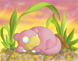 :Lazy days: Slowpoke by endless-whispers