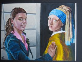 Two Girls with a Pearl Earring by HayBay