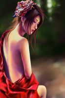 half naked geisha by Zen-Is