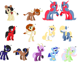 ~ Zodiac Themed Pony Adopts ~ CLOSED by IIbukiMioda