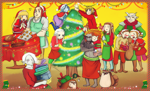 Skyward sword making Christmas Party by Christy58ying