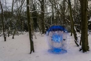 Blue Snow Orb. by chivt800