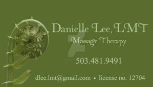 Danielle Lee, LMT: Business Card by RKDNproductions