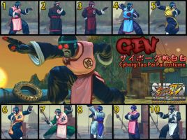 SSF4AE GEN Cyborg Tao Pai Pai costume MOD by dsFOREST