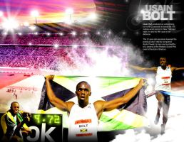 A Tribute to Usain Bolt by innografiks