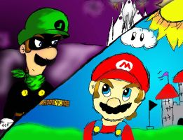 Mr.L vs. Mario for M.a.L.F. by DrGengar