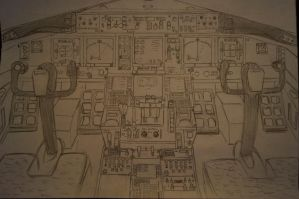 Boeing 777 cocpit by stachu96