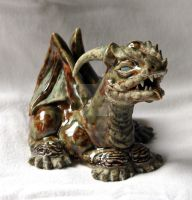 OOAK Ceramic Baby Winged Dragon Incense Burner by 1stQueenOfHalloween