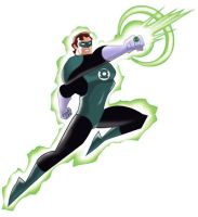 Hal Jordan production art by Xtophe