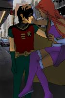 Robin and Star Fire by KoiFishAsylum