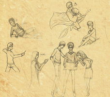 Harry Potter Sketches LOL by Chancc