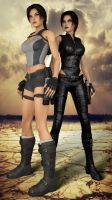 Lara Croft and Lillian by AlexCroft25