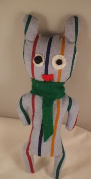 Striped monster with a scarf by Emmylu91