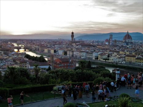 Florence from the Piazzale Michelangelo by mit19237