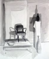 Ink and Wash Still Life by faustbane