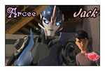 Arcee and Jack Love by GeminiGirl83