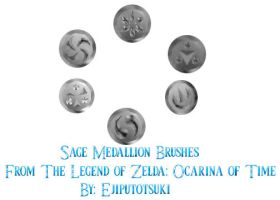 LOZ: Sage Medallion Brushes by Ejiputotsuki