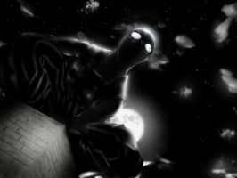 Spider-man Noir by hunveesketch