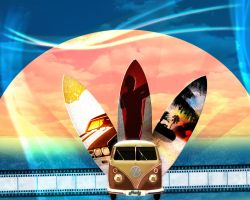 Bustin' Surfboards by FrankVoors