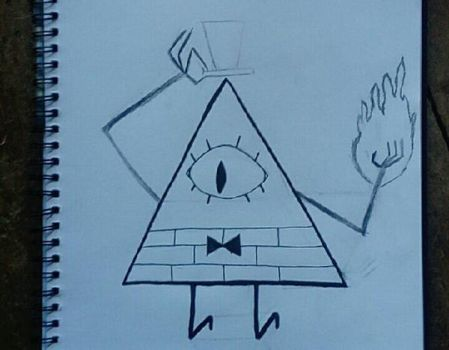 unfinished picture of Bill Cipher  by Wyldboy