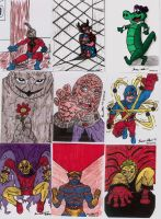 COMIC SKETCH CARDS IN COLOR 4 by shawncomicart