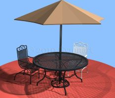 Patio Set Up by Gymnart