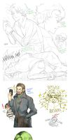 The Avengers Tony and Bruce Log 1 by Breetroad