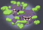 Gotta Draw 'em All Community Collab: Weezing by The-Walking-Dude