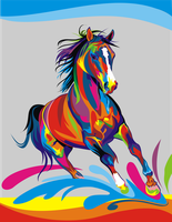 colour horse by Rajanmishra