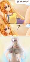 Sun and Moonbathing by AyaNyu